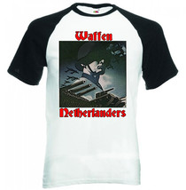 Waffen Netherlanders Germany Wwii  Black Sleeved Baseball Tshirt S M L Xl Xxl - $37.94