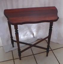 Small Mahogany Demilune Table / Entry Table  (JLC-T432) - $199.00