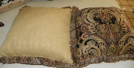 Pair of Black Gold Print Throw Pillows - $59.95