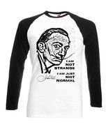 SALVADOR DALI I AM NOT STRANGE QUOTE- BLACK SLEEVED BASEBALL TSHIRT S-M-... - $37.94