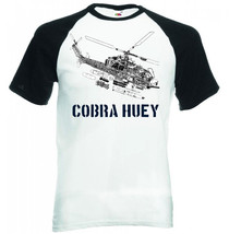 Cobra Helicopter Huey Inspired   New Black Sleeved Baseball Tshirt S M L Xl Xxl - $27.61