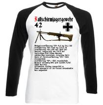 Fallschirmjägergewehr Germany Wwii   Black Sleeved Baseball Tshirt S M L Xl Xxl - $38.00