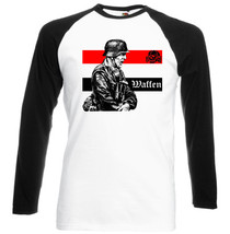 Waffen Germany Wwii  Black Sleeved Baseball Tshirt S M L Xl Xxl - $37.94