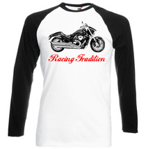 Japanese Motorcycle Boulevard   Black Sleeved Baseball Tshirt S M L Xl Xxl - $27.40
