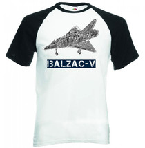Dassault Balzac V Inspired   Black Sleeved Baseball Tshirt S M L Xl Xxl - $27.51