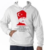 KEMAL ATATURK TURKISH LEADER- NEW AMAZING COTTON HOODIE - $56.95