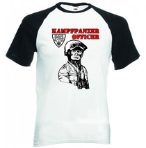 Kampfpanzer Officer Afrika Korps    Black Sleeved Baseball Tshirt S M L Xl Xxl - $37.94