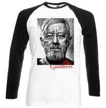 Alec Guinness Actor Legend   Black  Sleeved Baseball T Shirt S M L Xl Xxl - $26.53