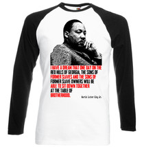 Martin Luther King Jr.   Black Sleeved Baseball T Shirt S M L Xl Xxl - $27.51
