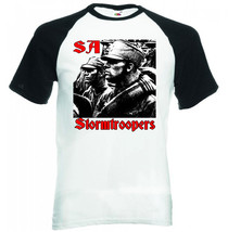Sa Stormtroopers Germany Wwii   Black Sleeved Baseball Tshirt S M L Xl Xxl - $37.94