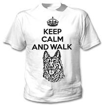 Keep Calm And Walk The German Shephard  New Amazing Graphic Tshirt  S M L Xl Xxl - $35.49