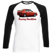 Italian Car  Romeo 33 Inspired   Black Sleeved Baseball Tshirt S M L Xl Xxl - $27.99