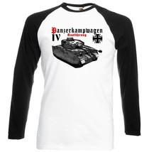 Panzerkampfwagen Iv Ausf H Wwii   Black Sleeved Baseball Tshirt S M L Xl Xxl - $27.61