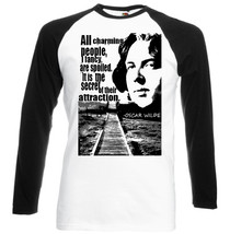 Oscar Wilde All Charming People Quote   New Baseball Tshirt S M L Xl Xxl - $27.61