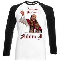 Silvio Berlusconi Elected Pope  Black Sleeves Baseball Funny Tshirt S M L Xl Xxl - $37.35
