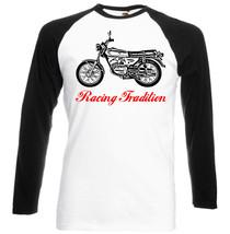 Japanese Motorcycle  Rs100 1976   Black Sleeved Baseball Tshirt S M L Xl Xxl - $27.99