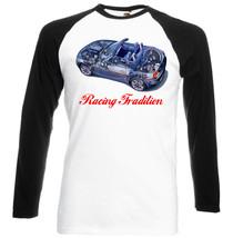 German Car Z4 Roadster Car Cutaway    Black Sleeved Baseball Tshirt S M L Xl Xxl - $27.47