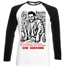 Che Guevara Quote  4   Black Sleeved Baseball Tshirt  S M L Xl Xxl - $27.99