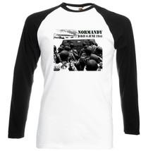 Normandy D Day    New Black Sleeved Baseball Tshirt S M L Xl Xxl - $27.61
