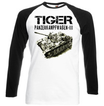Tiger Panzer Iii    Black  Sleeved Baseball T Shirt S M L Xl Xxl - $38.39