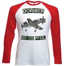 Dornier Do 335 Pfeil Inspired   Red Sleeved Tshirt  S M L Xl Xxl - $37.84