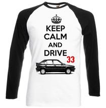 Italian Car Romeo 33 Keep Calm 1   Black Sleeved Baseball Tshirt S M L Xl Xxl - $27.47