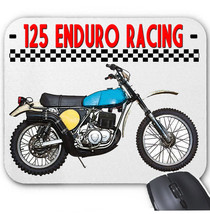 ITALIAN MOTORCYCLE 125 ENDURO RACING - MOUSE MAT/PAD AMAZING DESIGN - $13.95