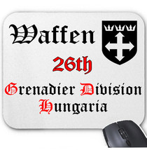 Waffen 26 Th Hungaria Germany Wwii   Mouse Mat/Pad Amazing Design - $13.94