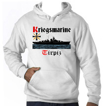 KRIEGSMARINE TIRPIZ GERMANY WWII - AMAZING GRAPHIC HOODIE S-M-L-XL-XXL - $54.54