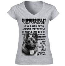 German Shepherd 2 Dog Rules  B New Cotton Grey Tshirt   S M L Xl Xxl - $36.15