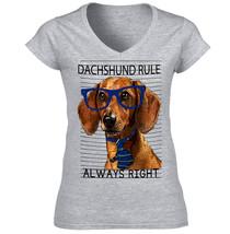 Dachshund Rule Always Right  New Amazing Graphic Grey T Shirt   S M L Xl Xxl - $34.85