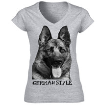 German Shepherd 3 German Style New Cotton Grey Tshirt   S M L Xl Xxl - $34.76