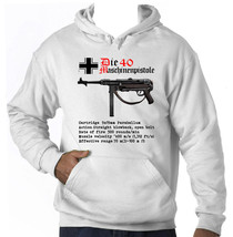 Maschinenpistole 40 Germany Wwii   Amazing Graphic Hoodie S M L Xl Xxl - $54.54