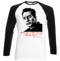 Jack Kerouac Quote 1  New Black Sleeved Baseball T Shirt S M L Xl Xxl - $27.40