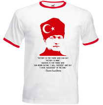 KEMAL ATATURK -TURKISH HISTORY - RED RINGER T-SHIRT S-M-L-XL-XXL - $39.25