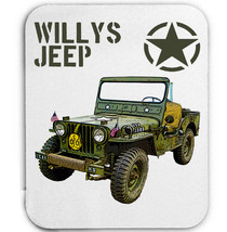 Willys Jeep Wwii Usa Mouse Mat/Pad Amazing Design - $13.95