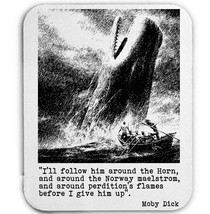 MOBY DICK HERMAN MALVILLE - MOUSE MAT/PAD AMAZING DESIGN - $15.09