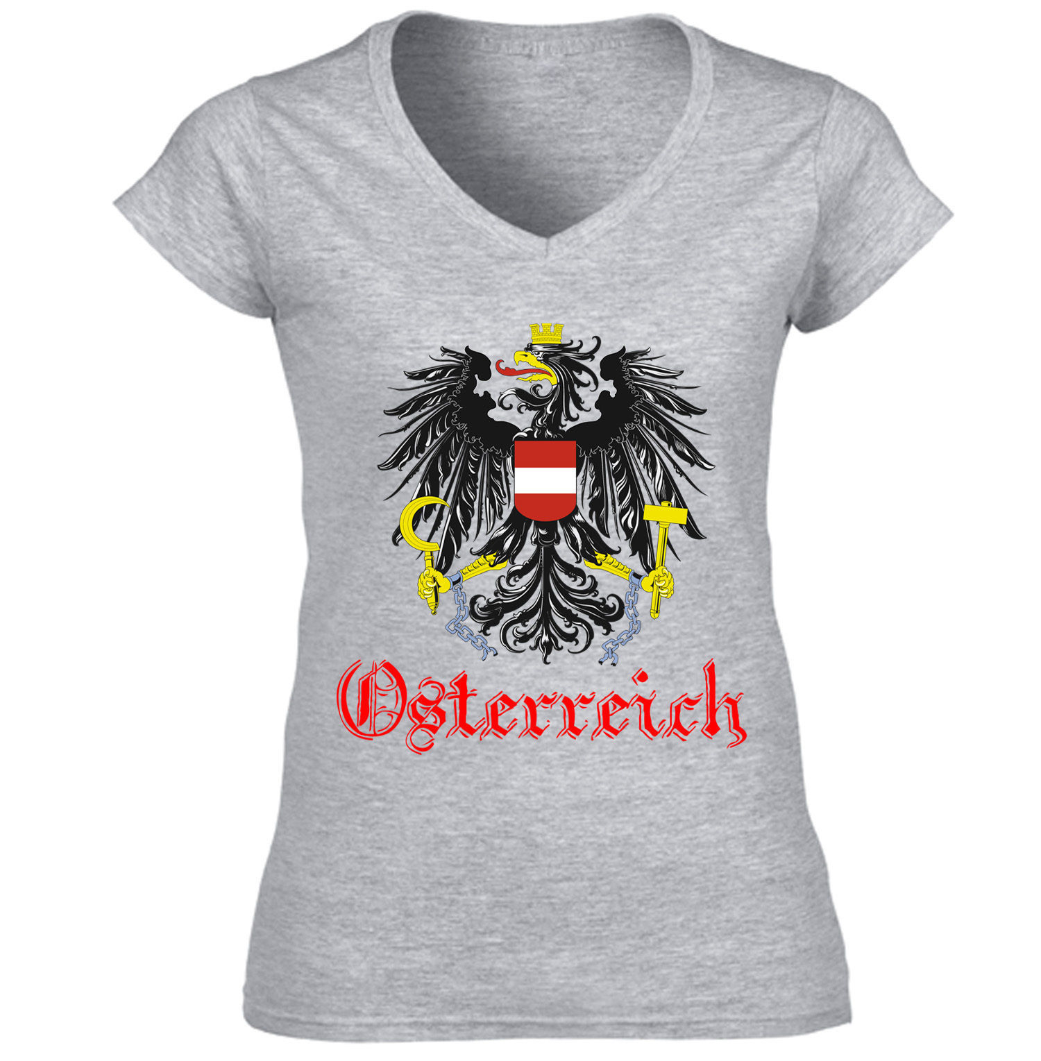 Primary image for AUSTRIA - COTTON GREY TSHIRT S-M-L-XL-XXL
