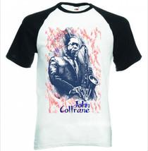 Coltrane John    Black Sleeved Baseball T Shirt S M L Xl Xxl - $38.47