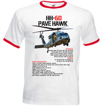Hh 60 Pave Hawk Helicopter Inspired   Red Ringer Tshirt S M L Xl Xxl - $37.84