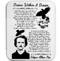 EDGAR ALAN POE DREAM WITHIN A DREAM - MOUSE MAT/PAD AMAZING DESIGN - $14.10