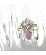 10K Yellow Gold Diamond Baguette & Round Cluster Ring, Size 7, 0.25(TCW), I1-I2 - $249.99
