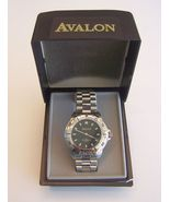Avalon Quartz Sport Wristwatch in Steel with Black Dial - $40.00