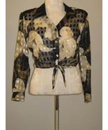 Hot Stuff Sheer Tied At Waist Blouse Size M Junior - $8.00
