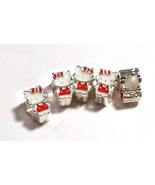 HELLO KITTY ~ 5 charms ~ FITS ALL EUROPEAN BRAC... - $5.00