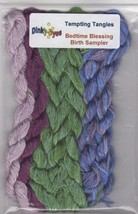 SILK FLOSS PACK Dinky Dyes (7 skeins) Bedtime Blessing chart Tempting Ta... - $25.20