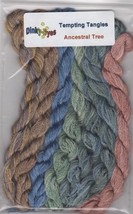 SILK FLOSS PACK Dinky Dyes (8 skeins) for Ancestral Tree chart Tempting ... - $28.80