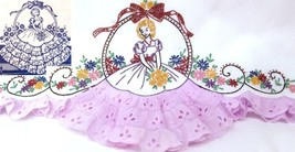 Southern Belle - Crinoline Lady eyelet embroidery pillowcase pattern mo891 - $5.00
