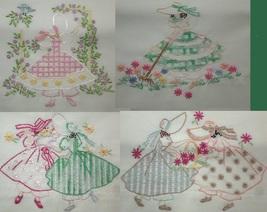 Bonnet / Sunbonnet Girls TOWEL embroidery pattern LW203  - $5.00