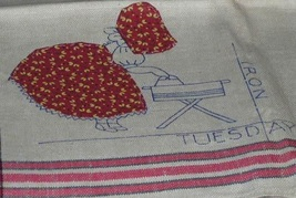 Bonnet / Sunbonnet Girls DOW  days of week TOWELS embroidery pattern Mc180  - $5.00